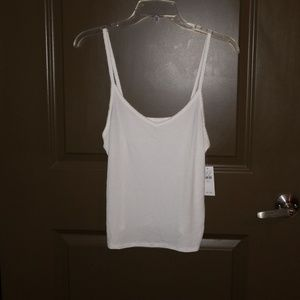 NWT. American Eagle Cropped Ribbed Cami Size M